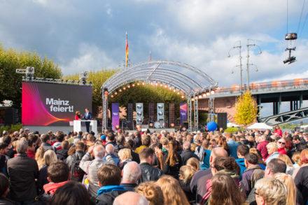 Großes Einheitsfest in Mainz