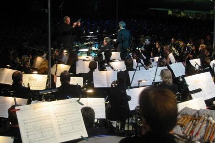 Europa Cantat, Orchester der Carmina Burana auf dem Theaterplatz in Mainz. Foto: bst