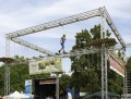 Der mobile Hochseilgarten beim Kinder-Festival im Mainzer Volkspark. Foto: Markus Kohz.